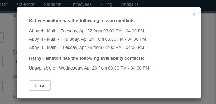teacher scheduling conflicts