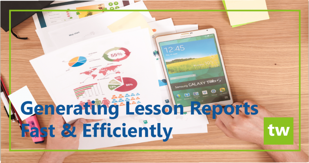 generating lesson reports
