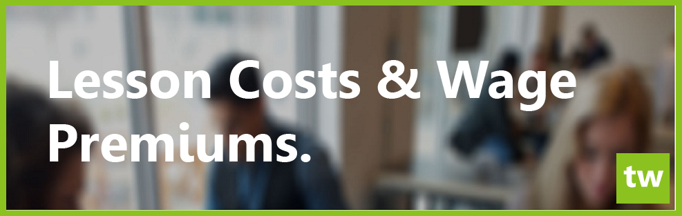 Lesson cost and wage premiums