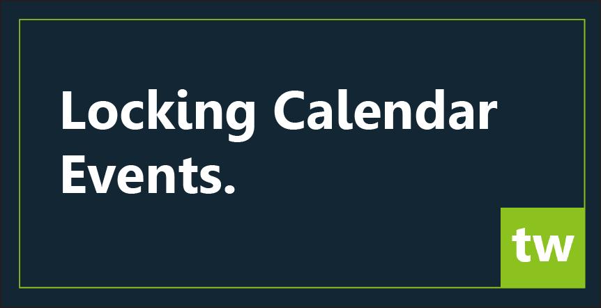 Locking calendar lessons