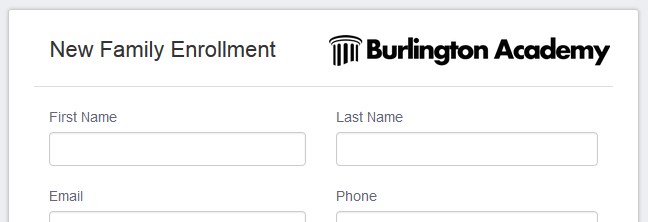 Custom enrollment forms