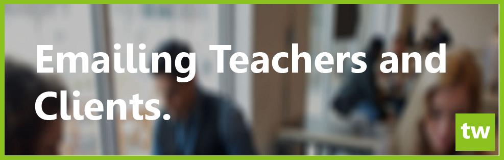 email teachers