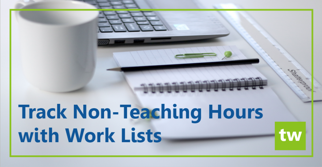 track non-teaching hours