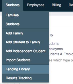 Lending Library Menu