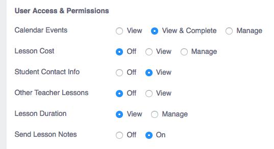 teacher permissions