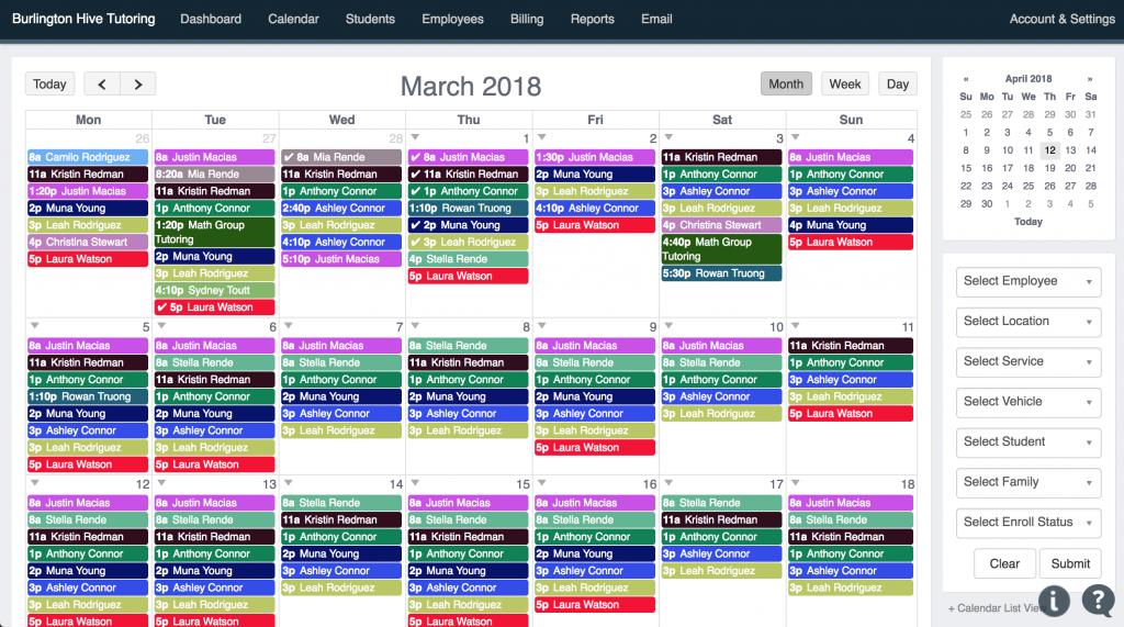 Tutoring Calendar