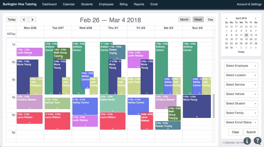 Weekly Calendar View