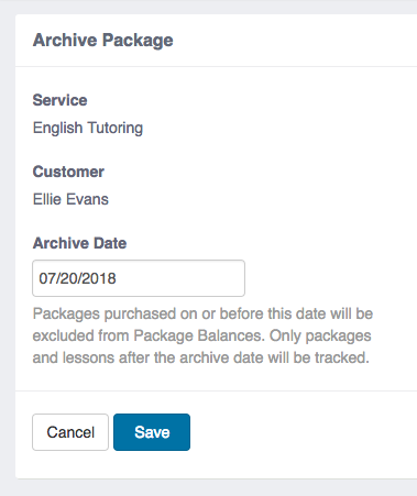 Archive Package