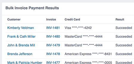 payment results