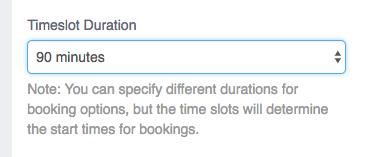 Adjustable Time Slots