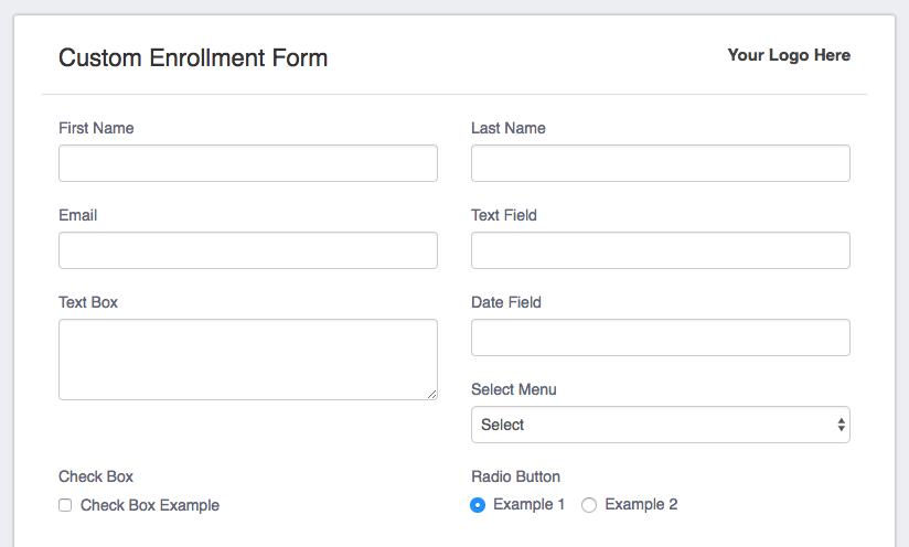Enrollment Form Add-On