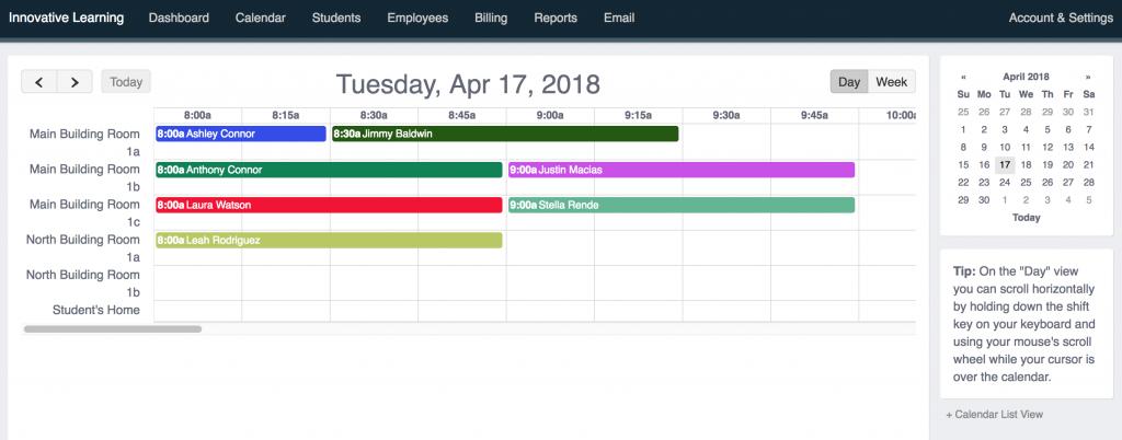 Tutoring Locations Calendar