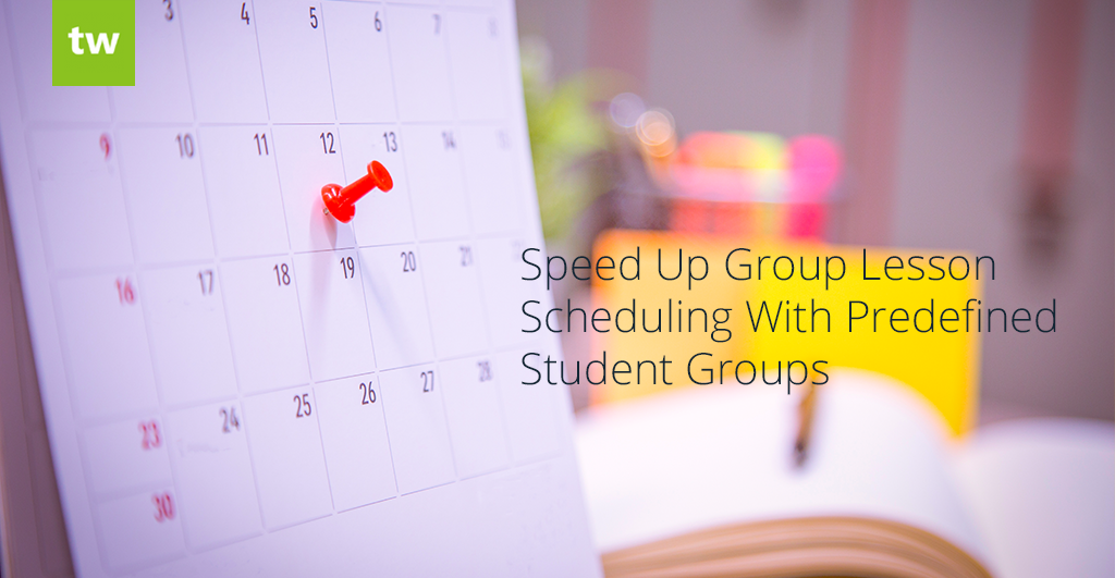 Speed Up Group Lesson Scheduling With Predefined Student Groups