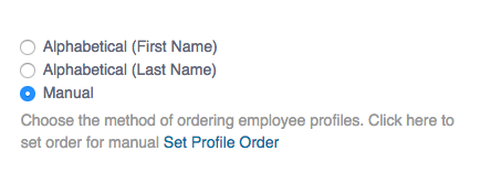 Website Profiles Order
