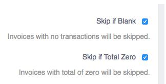 Skip if blank - skip if total zero