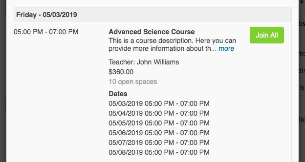 Teachworks Demo: Join Courses