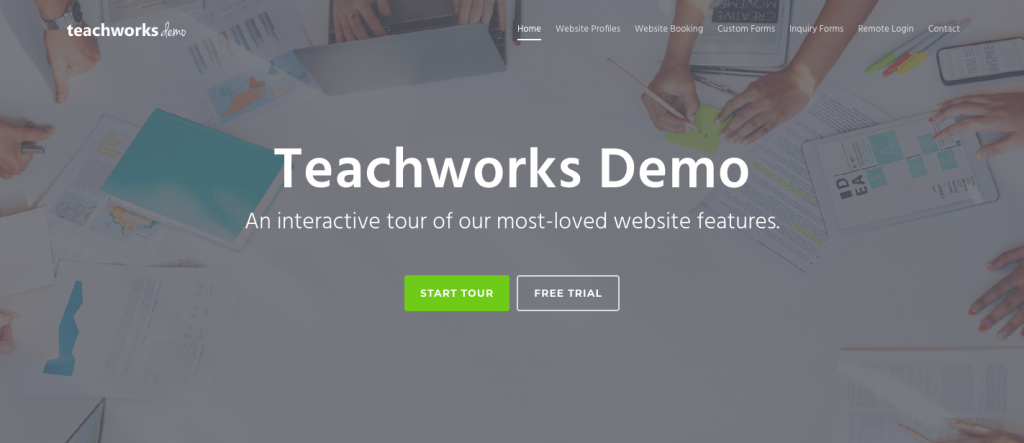 Teachworks Demo Website