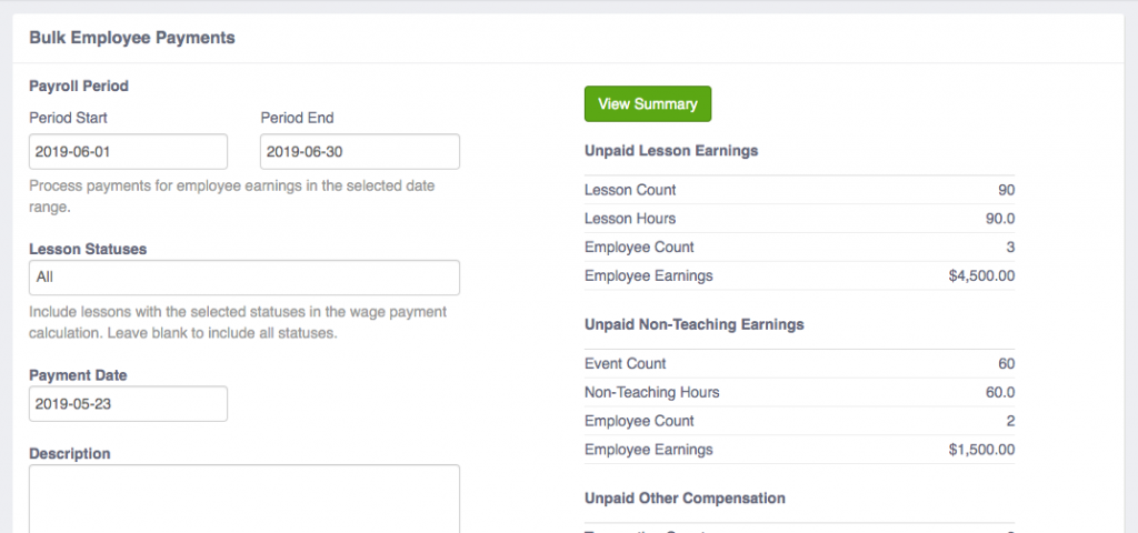 Bulk Employee Payments