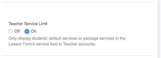 Teacher Service Limit