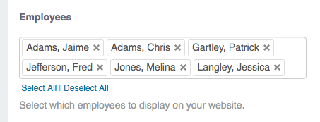 Website Profiles Add-On Employees