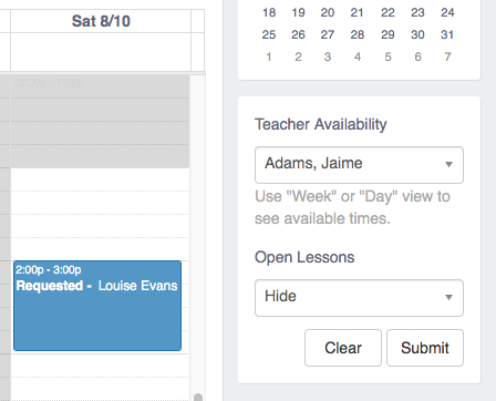 Lesson Requests Add-On