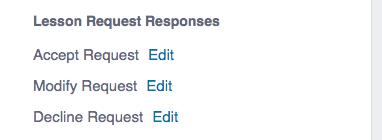 Lesson Request Responses
