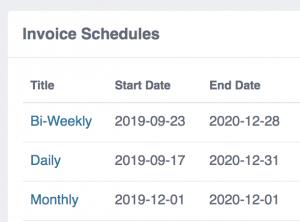 Invoice Schedules