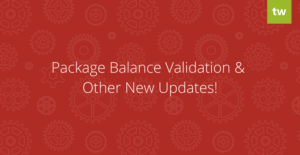 Package Balance Validation Add-on & other new updates