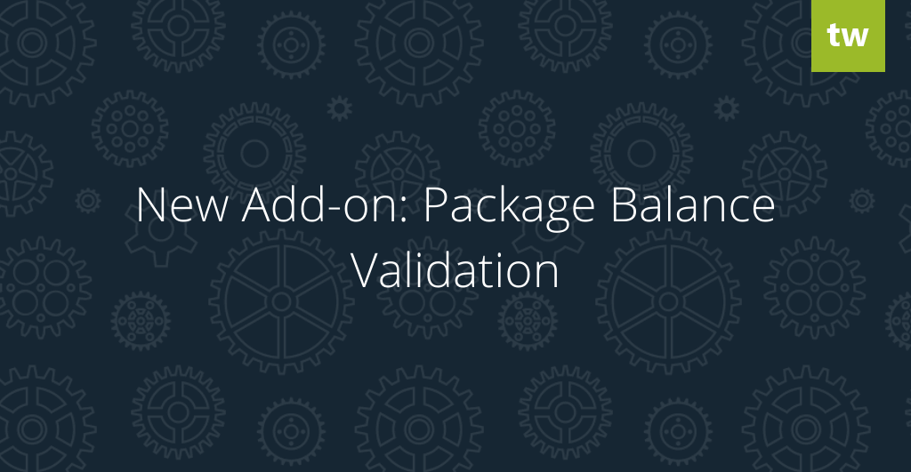 New Add-on: Package Balance Validation