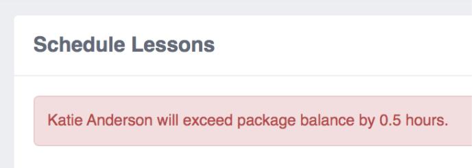 Package Balance Validation Add-on validation example