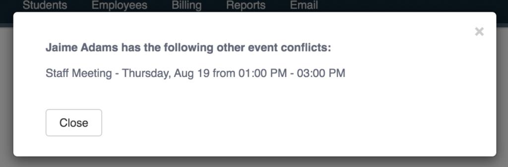 Conflict checker example.